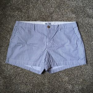 Old Navy Blue Stripped Chino Shorts